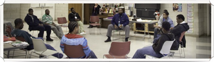 Salvation Army Rehabilitation Center Meeting