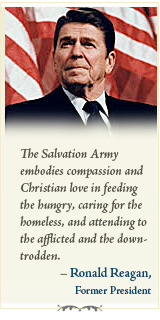 The Salvation Army embodies compassion and Christian love in feeding the hungry...