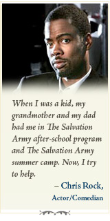 When I was a kid, my grandmother and my dad had me in The Salvation Army after-school program...