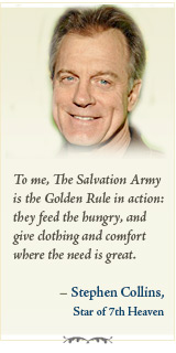 To me, The Salvation Army is the Golden Rule in action...