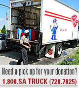 Need a pick up for your donation?